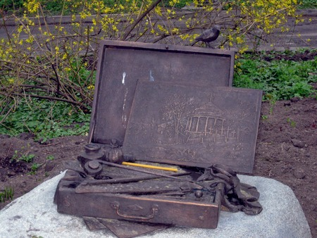 national poet: New monument to famous Ukrainian national poet Taras Shevchenko in the place where he drew  sketch painting Askold  grave   Kyiv   Ukraine