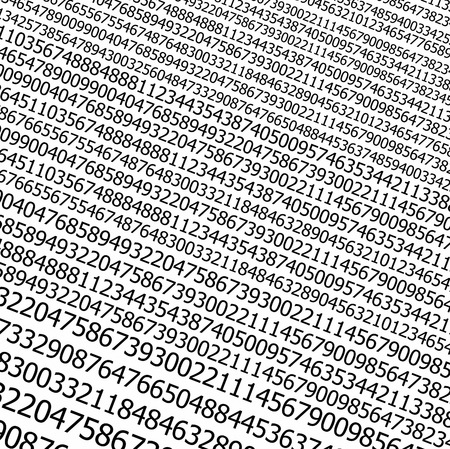 sequences:  Sequences of digits stream on white background Stock Photo