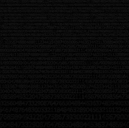 sequences:  Sequences of digits stream on black background