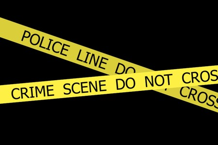 police tape: Set of Police tapes POLICE LINE DO NOT CROSS and CRIME SCENE DO NOT CROSS on black background