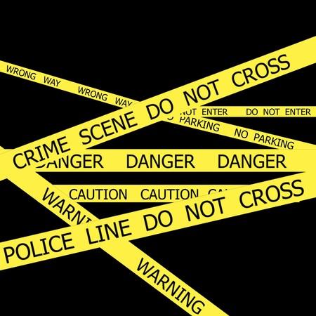 do not enter warning sign: Set of Police tapes on black background
