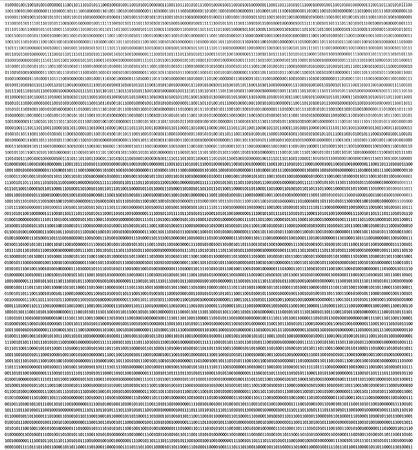 binary code stream on white background photo