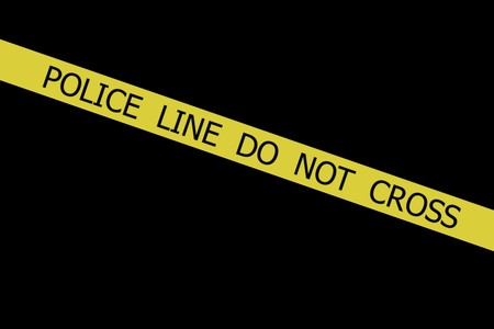 t off:  Police tape POLICE LINE DO NOT CROSS on black background