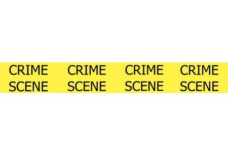 background csi: Crime Scene illustration sign on yellow tape Stock Photo