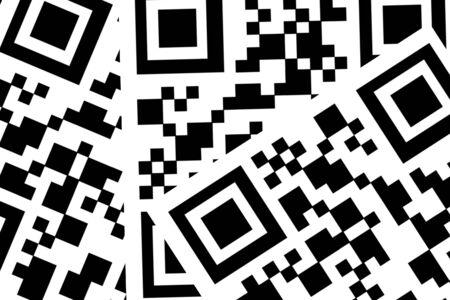 abbreviated: I codici QR (abbreviato da Quick Response Code) � il marchio di un tipo di codice a barre a matrice (o codice a barre bidimensionale) in primo luogo progettato per l'industria automobilistica in Giappone Archivio Fotografico