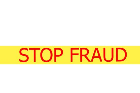 expressing negativity: Yellow tape with  slogan STOP CHIATING on white background Stock Photo