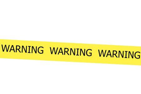 roped off: Warning yellow tape Stock Photo