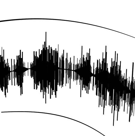 seismograph: Abstract black seismogram on white  paper background