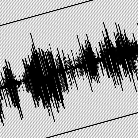 seismic: Abstract black seismogram on white  paper background