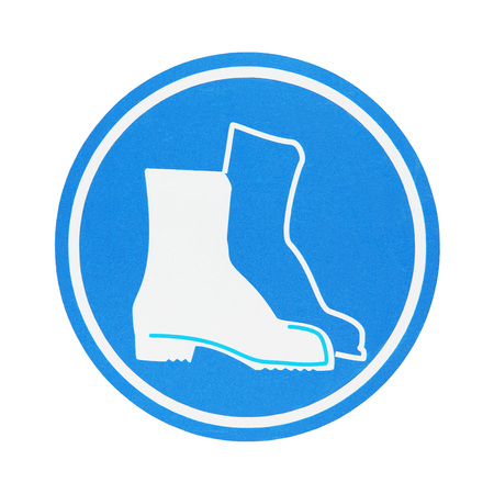 work shoes: protective work shoes symbol Stock Photo