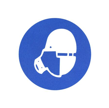 substances: International communication sign for workplaces. Toxic substances.  Be sure to use gas mask
