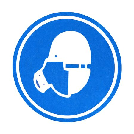 evaporation: International communication sign for workplaces. Toxic substances.  Be sure to use gas mask