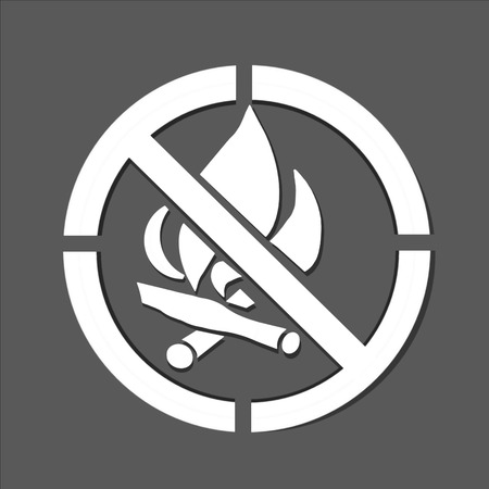 prohibitive: No open fire prohibitive sign on brown background Stock Photo