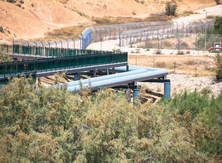 desalination: Large water pipe line in the Negev desert. Israel