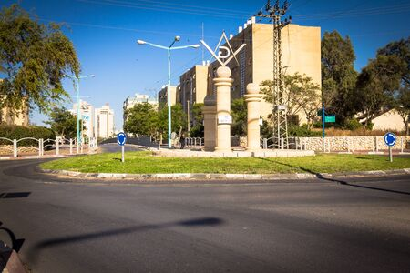 masonic: BE`ER SHEVA, ISRAEL - May 7 : Masonic Square and surrounding streets in the capital of the Negev. Be`er Sheva is the largest city in the Negev desert of southern Israel Editorial
