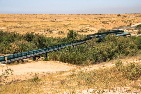 pipe line: Large water pipe line in the Negev desert. Israel