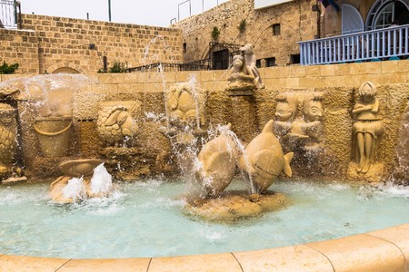 jaffo: Fountain of zodiac signs Jaffa, Tel Aviv. Israel