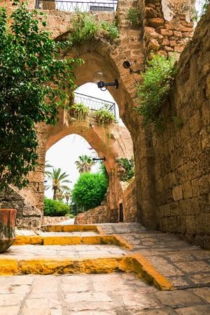 jafo: old stone city Jaffa in Tel Aviv. Israel Stock Photo