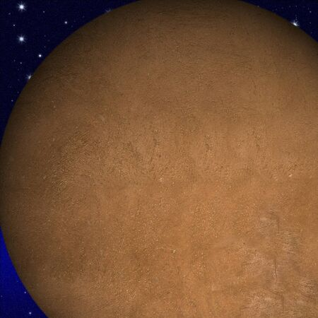 mysterious: mysterious alien planet on the blue starry space background