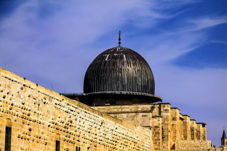 holiest: Al Aqsa Mosque,  third holiest site in Islam on  Temple Mount at the Old City .  Jerusalem, Israel.