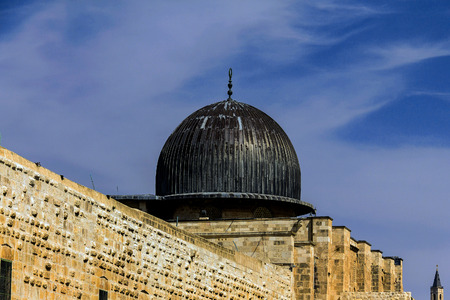 sunni: Al Aqsa Mosque,  third holiest site in Islam on  Temple Mount at the Old City .  Jerusalem, Israel.
