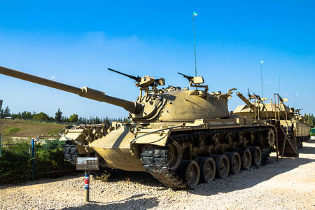 patton: American made M48 A3 Patton Main Battle Tank on display at Yad La-Shiryon Armored Corps Museum at Latrun. Israel