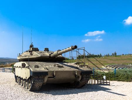 mk: Israel made main battle tank Merkava  Mk IV on display at Yad La-Shiryon Armored Corps Museum at Latrun. Israel