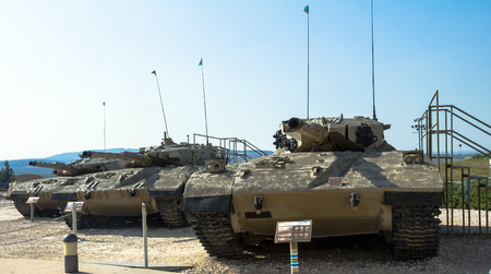 mk: Israel made main battle tanks Merkava  Mk I, Mk II, Mk III on display at Yad La-Shiryon Armored Corps Museum at Latrun. Israel Editorial