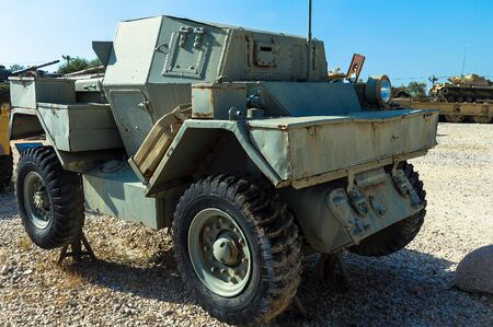 israel war: Canadian made Ford Lynx I scout car was captured from the Jordanian army during the War of Independence on display at Yad La-Shiryon Armored Corps Museum at Latrun. Israel