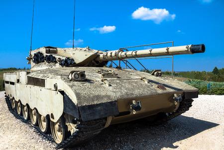 mk: Israel made main battle tank Merkava  Mk I on display at Yad La-Shiryon Armored Corps Museum at Latrun. Israel Editorial