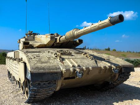 mk: Israel made main battle tank Merkava  Mk III on display at Yad La-Shiryon Armored Corps Museum at Latrun. . Israel