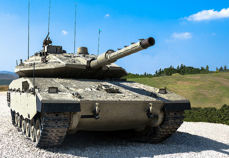 Israel made main battle tank Merkava  Mk IV