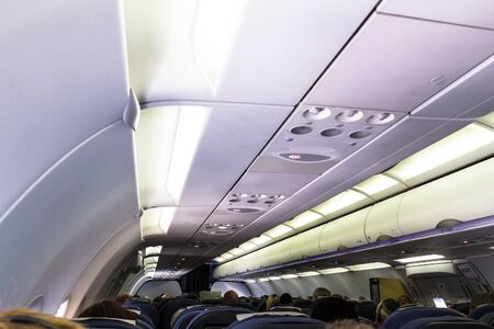 Airbus A320 Familys spacious cabin include wider seats for unmatched passenger comfort. London. UK Editorial