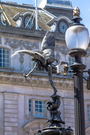 piccadilly: Eros Statue at Piccadilly Circus, London, UK Editorial