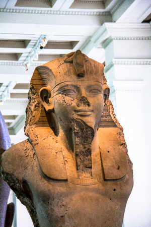 worshipped: British Museum. Seated statue of Amenhotep III or Amenophis III. Thebes Egypt, about 1400BC. Amenhophis III was the first Egyptian King to be worshipped as a god in his own lifetime. London, UK Editorial