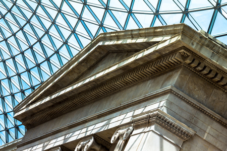 glass ceiling: The British Museum glass ceiling. Museum was established in 1753, largely based on the collections of the physician and scientist Sir Hans Sloane. London, UK. Editorial