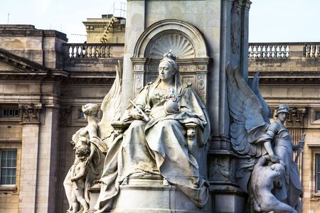 buckingham: Imperial Memorial to Queen Victoria (1911, designed by Sir Aston Webb) in front of Buckingham Palace was built in honor of Queen Victoria, who reigned for almost 64 years. London, UK.