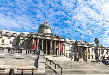 western european: National Gallery in Trafalgar Square. The gallery houses a collection of Western European painting from the 13th to the 19th centuries. London