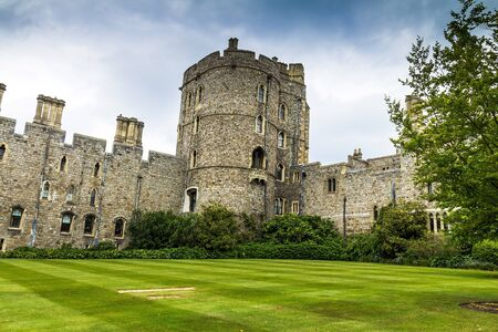 the royal county: View of Upper Ward Quadrangle in Medieval Windsor Castle. Windsor Castle is a royal residence at Windsor in the English county of Berkshire.  Windsor,UK