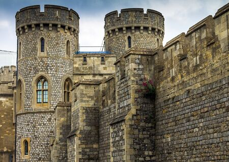 king edward: Medieval Windsor Castle. Windsor Castle is a royal residence at Windsor in the English county of Berkshire. It was built in 1066 by William the Conqueror and it is the longest-occupied palace in Europe.  Windsor,UK