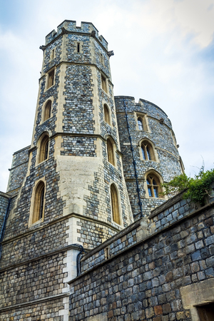 berkshire: Donjon or Edward tower - the great tower or innermost keep of a Medieval Windsor Castle. Windsor Castle is a royal residence at Windsor in the English county of Berkshire. It was built in 1066 by William the Conqueror and it is the longest-occupied palace