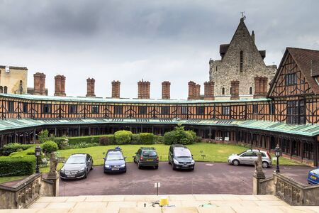 berkshire: Living quarters for staff  in Windsor Castle, royal residence at Windsor in the English county of Berkshire. UK Editorial