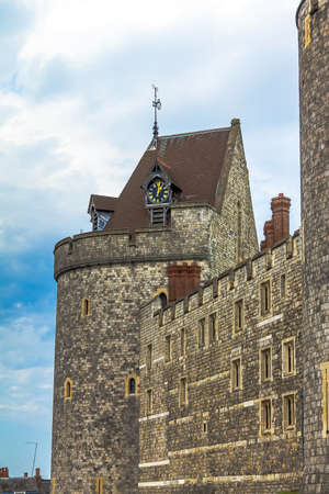 curfew: Curfew Tower, part of the Lower Ward in medieval Windsor Castle. Windsor Castle is a royal residence at Windsor in the English county of Berkshire. UK