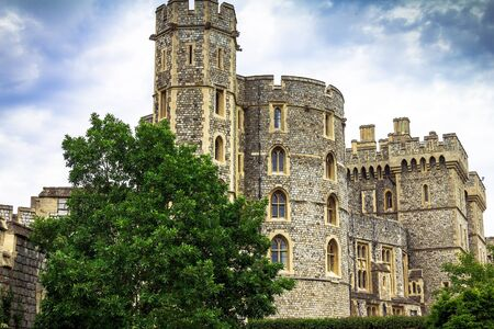 the royal county: Donjon  or Edward tower  - the great tower or innermost keep of a Medieval Windsor Castle. Windsor Castle is a royal residence at Windsor in the English county of Berkshire. It was built in 1066 by William the Conqueror and it is the longest-occupied pala Editorial