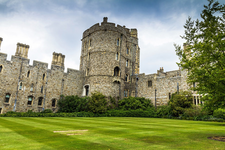 the royal county: View of Upper Ward Quadrangle in Medieval Windsor Castle. Windsor Castle is a royal residence at Windsor in the English county of Berkshire. UK