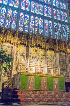 the royal county: Inside St. George Chapel in Windsor Castle, royal residence at Windsor in the English county of Berkshire. UK Editorial