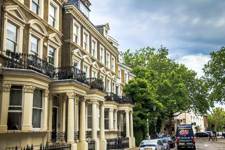 kensington: Old  large apartment  houses  in Kensington Olympia district, London, England, United Kingdom.