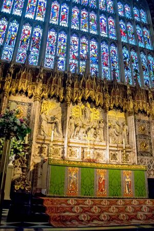 berkshire: Inside St. George Chapel in Windsor Castle, royal residence at Windsor in the English county of Berkshire. UK Editorial