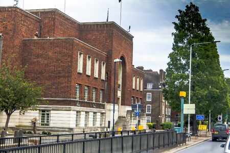steps and staircases: Vintage tradition school building in borough of Hammersmith and Fulham, London, England, United Kingdom