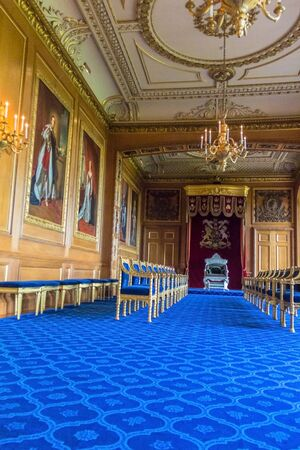 conqueror: Interior of royal palace in medieval Windsor Castle. Windsor Castle is a royal residence at Windsor in the English county of Berkshire. It was built in 1066 by William the Conqueror and it is the longest-occupied palace in Europe. UK